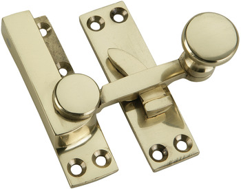 Sash Fastener, Quadrant Arm, Brass