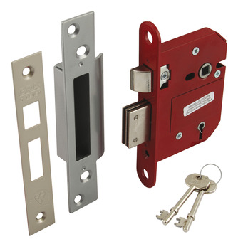 Sashlock, Mortice, Security 5 Lever, Steel and Zinc Alloy, 'Fortress'