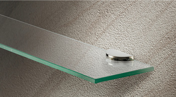 Shelf Support, Clamp Design, Screw Fixing, for Glass and Wooden Shelves