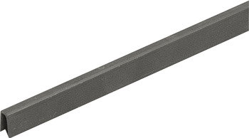 Single guide track, Bottom, for door thicknesses 19 mm, 22 mm and 25 mm