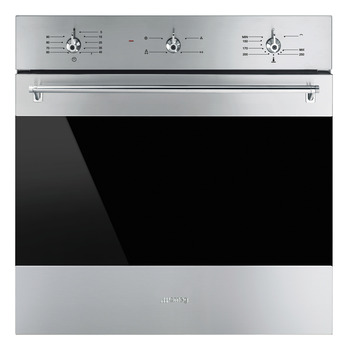 Single Oven, Gas Fan, with Electric Grill, 600 mm, Smeg Classic