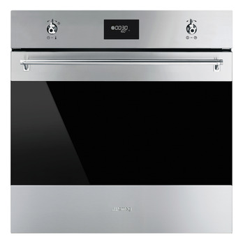 Single Oven, Multifunction, Pyrolitic, Finger-Friendly, 600 mm, Smeg Classic
