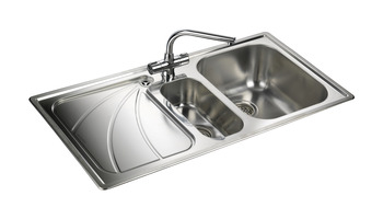 Sink, 1.5 Bowl and Drainer, Rangemaster Chicago CG9852