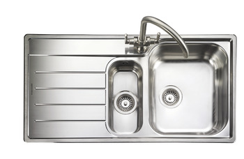 Sink, 1.5 Bowl and Drainer, Rangemaster Oakland OL9852