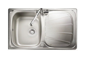 Sink, Compact Single Bowl and Drainer, Rangemaster Baltimore BL8001