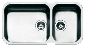 Sink, Double Bowl, Smeg Alba UM4530