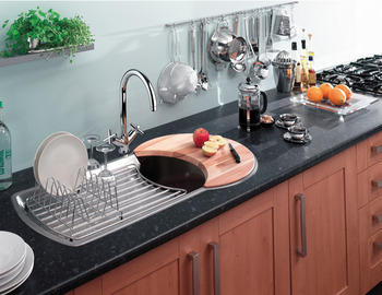 Sink, Single Bowl and Drainer, Rangemaster Keyhole KY10001