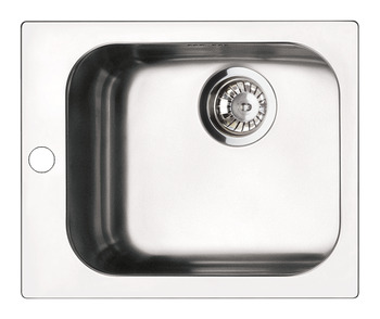 Sink, Single Square Bowl, Smeg Alba VS34/P3
