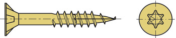 Spax® Screw, Chipboard, Countersunk Head with T Star, Partially Threaded