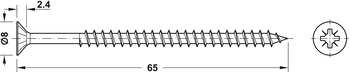 Spax® Screw, Countersunk Head with PZ Cross Slot
