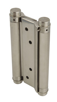 Spring Hinge, Double Action, 168 x 63 mm, Stainless Steel and Steel