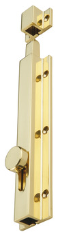 Surface Bolt, Knob, Slide Action, 150 x 33 mm, Brass