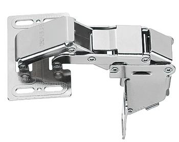 Swing Up Flap Hinge, for Mounting with Panel, Opening Angle 90°