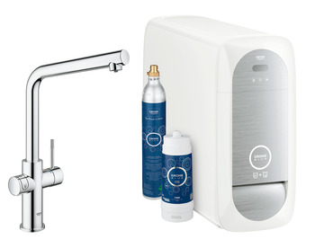 Tap, Dual Lever Monobloc Filter Tap, For Chilled Still or Sparkling Water, L-Spout, Grohe Blue® Home Duo
