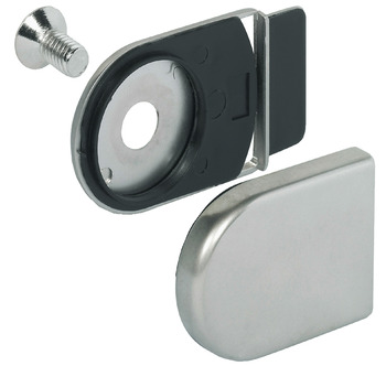 Trim Cap and Closure Plate, for Symo 3000 Glass Door Cam Lock