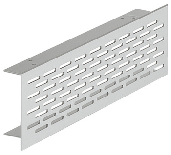 Ventilation Grill, for Recess Mounting with 20 x 3 mm Oval Slots Arranged in an Offset Pattern