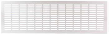 Ventilation Grill, for Recess Mounting with 30 x 4 mm Oval Slots Arranged in Parallel