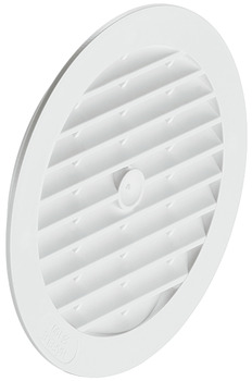 Ventilation Grill, for Recess Mounting, with Flanged Rim, Ø 123 mm, Plastic