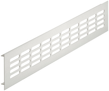 Ventilation Grille, for Recess Mounting with 40 x 7.5 mm Oval Slots Arranged in Parallel