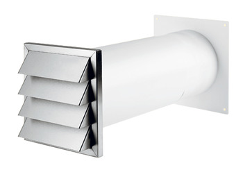Wall Vent System, Stainless Steel, with Blind, System 125/150