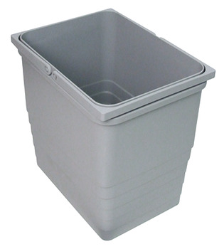 Waste Bin, Grey Plastic, One2Five