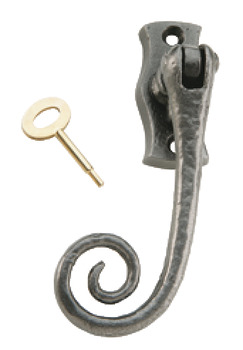 Right Hafele Lockable Window Handle Espagnolette Brass With Key