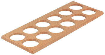 Wooden Spice Jar Insert, for Holding 12 Ø 56 mm jars, for Cutlery Inserts from Size 80/60
