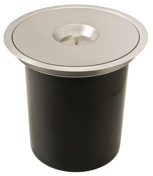Worktop Waste Bin, plastic bucket, 5 litres